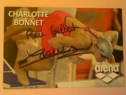 NATATION - Charlotte BONNET....Signature...Autographe Véritable.....(Arena) - Autographes