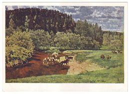 EXPANSE. WATERING PLACE, 1917 By KONSTANTIN YUON, Russian Painter. Unused Postcard - USSR, 1964 - Malerei & Gemälde