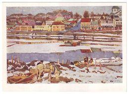 IN SERGIEV POSAD By KONSTANTIN YUON, Russian Painter. Unused Postcard - USSR, 1964 - Malerei & Gemälde