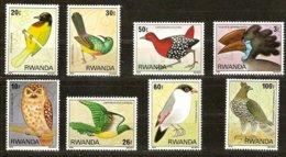 Rwanda 1980 Yvertn°  954-961  *** MNH Cote 12,00 € Fauna Oiseaux Vogels Birds - Rwanda