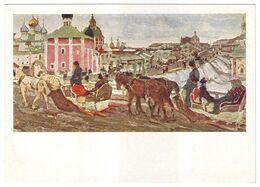 TO THE TRINITY, 1903 By KONSTANTIN YUON, Russian Painter. Unused Postcard - USSR, 1964 - Malerei & Gemälde