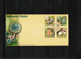Gibraltar 2003 Mushrooms Set FDC - Pilze