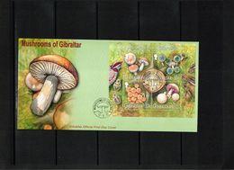Gibraltar 2003 Mushrooms Block FDC - Pilze