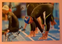 NATATION - Lisa POU....Signature...Autographe Véritable.... - Autographes