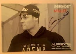NATATION - Grégory MALLET....Signature...Autographe Véritable.... - Autographes
