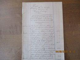 DAGNY LAMBERCY LE 7 MARS 1932 COMPTE DE MONSIEUR BOUXIN CRECHON A LA COMMUNE TRAVAUX EXECUTES AU COURS DES ANNEES 1914 A - Manoscritti