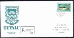 Tuvalu - Enveloppe Recommandée F.D.C De Funafuti 21 My 1980 - TB - - Tuvalu