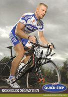 CARTE CYCLISME SEBASTIAN ROSSELER SIGNEE TEAM QUICK STEP 2008 - Cyclisme