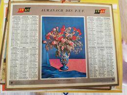 CALENDRIER FRANCE 1965 ENVOI DE FLEURS MANQUE PLAN - Calendari