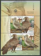"RUMANIA /ROMANIA /RUMÄNIEN -EUROPA 2019 -NATIONAL BIRDS.-""AVES -BIRDS -VÖGEL -OISEAUX""- HOJITA BLOQUE TIPO 1 - 2019"