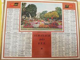 CALENDRIER FRANCE 1965 JARDINS D ANGERS MANQUE PLAN - Calendari