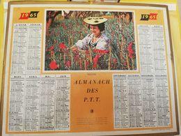 CALENDRIER FRANCE 1965 NICOISE MANQUE PLAN - Calendari