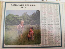 CALENDRIER FRANCE 1972 ENFANTS JOUANT DEHORS COMPLET SEINE MARITIME - Calendari