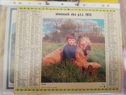 CALENDRIER FRANCE 1973 ENFANTS JOUANT DEHORS COMPLET SEINE MARITIME - Calendari