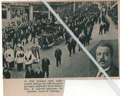 SINT-NIKLAAS..1937.. LEON SCHEERDERS DE GEKENDE NIJVERAAR TEN GRAVE GEDRAGEN - Vecchi Documenti