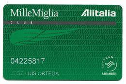 Alitalia, Frequent Flyer Rewards Card, # Airlines-17a - Cartes De Crédit (expiration Min. 10 Ans)