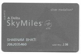 Delta, Frequent Flyer Rewards Card, # Airlines-23 - Cartes De Crédit (expiration Min. 10 Ans)