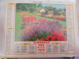 CALENDRIER FRANCE 1976 JARDINS FLEURIS COMPLET SEINE MARITIME - Calendari