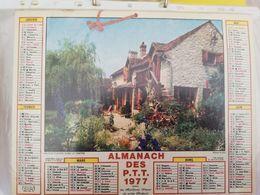 CALENDRIER FRANCE 1977 JARDINS FLEURIS COMPLET SEINE MARITIME - Calendari