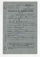 FASCICULE MOBILISATION DERVIN JULES NE 1888 NOUZON LINOTYPISTE 5 RI ARGENTON - Documents