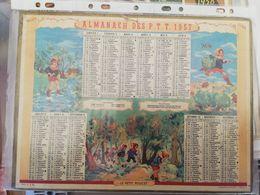 CALENDRIER FRANCE 1957 PETIT POUCET LAGRANGE AVEC PLAN - Calendari