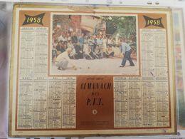 CALENDRIER FRANCE 1958 PETANQUE COMPLET AVEC PLAN - Calendari