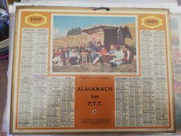 CALENDRIER FRANCE 1959 CASSE CROUTE VIGNERONS COMPLET AVEC PLAN SEINE MARITIME - Calendari