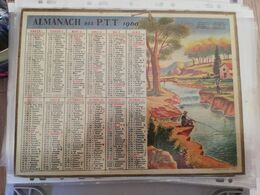 CALENDRIER FRANCE 1960 COMPLET AVEC PLAN SEINE MARITIME - Calendari