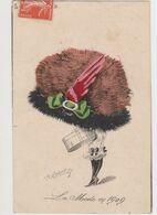 Carte Fantaisie Signée Roberty / La  Mode En 1909 .Le Sourire N°90 /Femme Avec Un Très Grand Chapeau - Other Illustrators