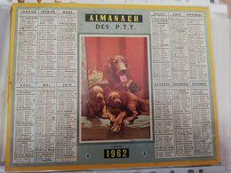 CALENDRIER FRANCE 1962 COMPLET AVEC PLAN SEINE MARITIME CHIEN ET CHIOT - Calendari