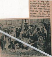LOOCHRISTI..1937.. M. VAN ACKER WERD ZIJN VOITUURKE OP DE WIJK BERGENDRIES TE LOKEREN AANGEREDEN - Vecchi Documenti