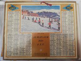 CALENDRIER FRANCE 1963 COMPLET AVEC PLAN SEINE MARITIME ECOLE DE SKI - Calendari