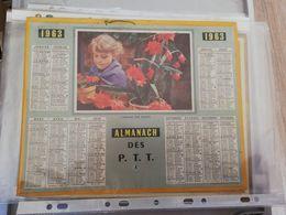 CALENDRIER FRANCE 1963 COMPLET AVEC PLAN SEINE MARITIME AMOUR DES FLEURS - Calendari