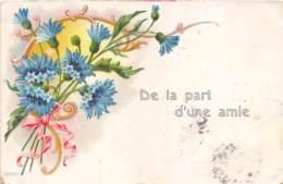 """FANTAISIE - GAUFREE - FLEURS - """"DE LA PART D'UNE AMIE"""" - Sonstige"""