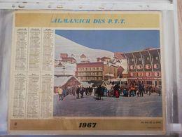 CALENDRIER FRANCE 1967 COMPLET AVEC PLAN SEINE MARITIME EN BAS DE LA PISTE - Calendari