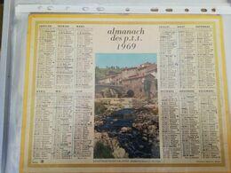 CALENDRIER FRANCE 1969 COMPLET AVEC PLAN SEINE MARITIME SAINT MARTIN DE VALMAS ARDECHE - Calendari