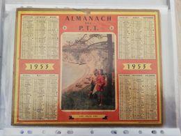 CALENDRIER FRANCE 1953 SANS PLAN  UNE JOLIE VUE FALAISE - Calendari