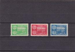 Cuba Nº 335 Al 337 Con Charnela - Unused Stamps