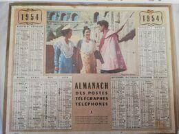 CALENDRIER FRANCE 1954 COMPLET   TOREROS TAUROMACHIE - Calendari