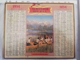 CALENDRIER FRANCE 1954 COMPLET  VACANCES AU BORD DE L EAU CANOE - Calendari