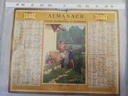 CALENDRIER FRANCE 1955 COMPLET REVUE D ARMES NETTOYAGE FUSIL - Calendari