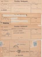 Deutsches Reich 4 Telegrammen - Gebraucht