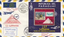 Paraguay First Flight Lufthansa Cover 1971 - Paraguay