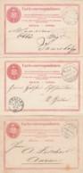 Schweiz 3 Postkarten Ab 1872 - 1882-1906 Wappen, Stehende Helvetia & UPU