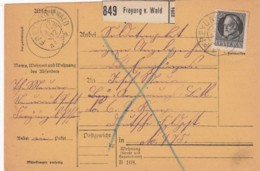 AD Bayern Paketkarte 1917 - Bayern
