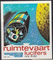 Netherlands Space Weltraum Espace: Lucifers Matchbox Labels: 41-60 Large Format - Zündholzschachteletiketten