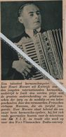 KORTRIJK..1937.. EEN TALENTVOLLE HARMONIKASPELER HENRI MASURE - Vecchi Documenti
