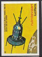 Netherlands Space Weltraum Espace: Lucifers Matchbox Labels: Elektron-2 Satellite; Electron-2; Russia - Zündholzschachteletiketten