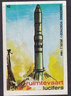 Netherlands Space Weltraum Espace: Lucifers Matchbox Labels: Woshod 1 Space Station Lounch - Zündholzschachteletiketten