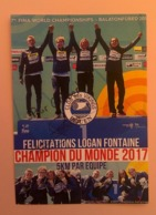 NATATION - LOGAN FONTAINE (Champion Du Monde 2017) ....Signature...Autographe Véritable.... - Handtekening